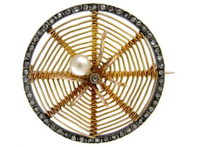 Antique jewellery spider