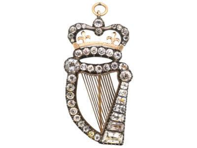 Antique jewellery harp