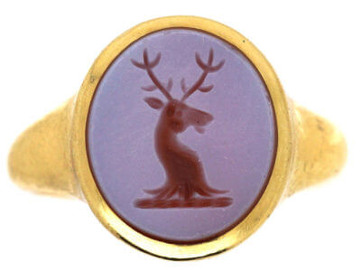 Antique jewellery stag