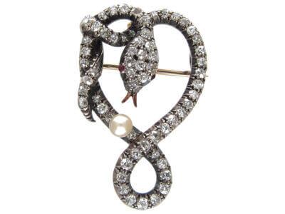 Antique jewellery snake