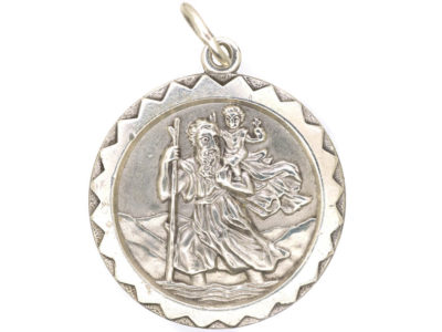 St Christopher Silver Pendant by Georg Jensen