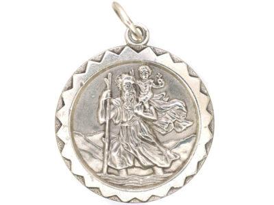 St Christopher Silver Pendant by Georg Jensen