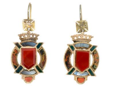 Antique jewellery shield