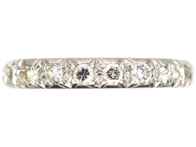 Art Deco Platinum & Diamond Eternity Ring
