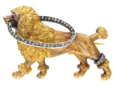 Antique jewellery dogs
