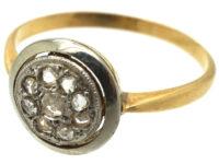 Art Deco 18ct Gold & Platinum Cluster Ring