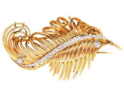 Antique jewellery feathers