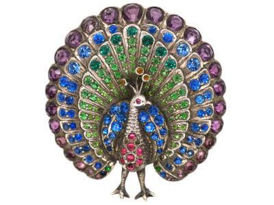 Antique jewellery peacock