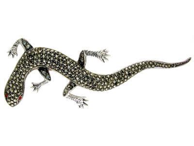 Antique jewellery lizard