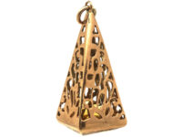 9ct Gold Pyramid Seal with Square Citrine Base