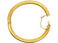 Edwardian 18ct Gold & Rose Diamond Bangle