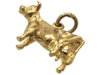 9ct Gold Jersey Cow Charm