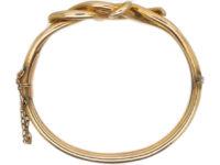 Edwardian 9ct Gold Coily Bangle