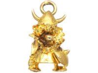 9ct Gold Charm of a Viking