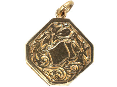 9ct Gold Octagonal Locket