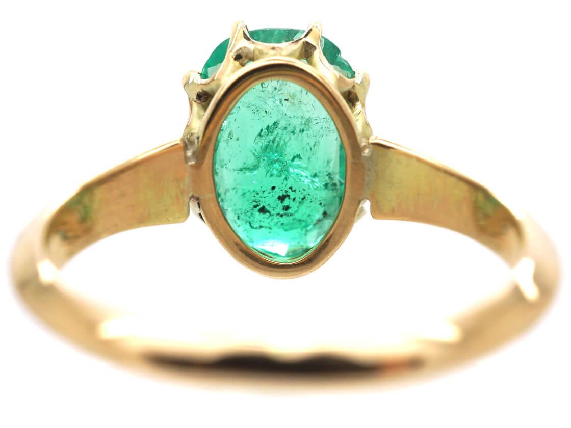 Edwardian 18ct Gold & Emerald Ring