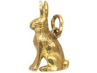 9ct Gold Bunny Charm