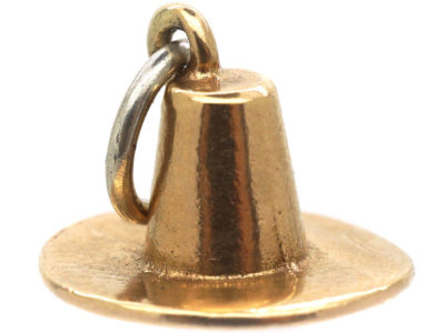 9ct Gold Mexican Sombrero Hat Charm