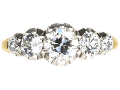 William 1V 18ct Gold Five Stone Diamond Ring