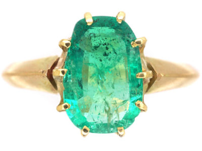 Edwardian 18ct Gold & Emerald Ring