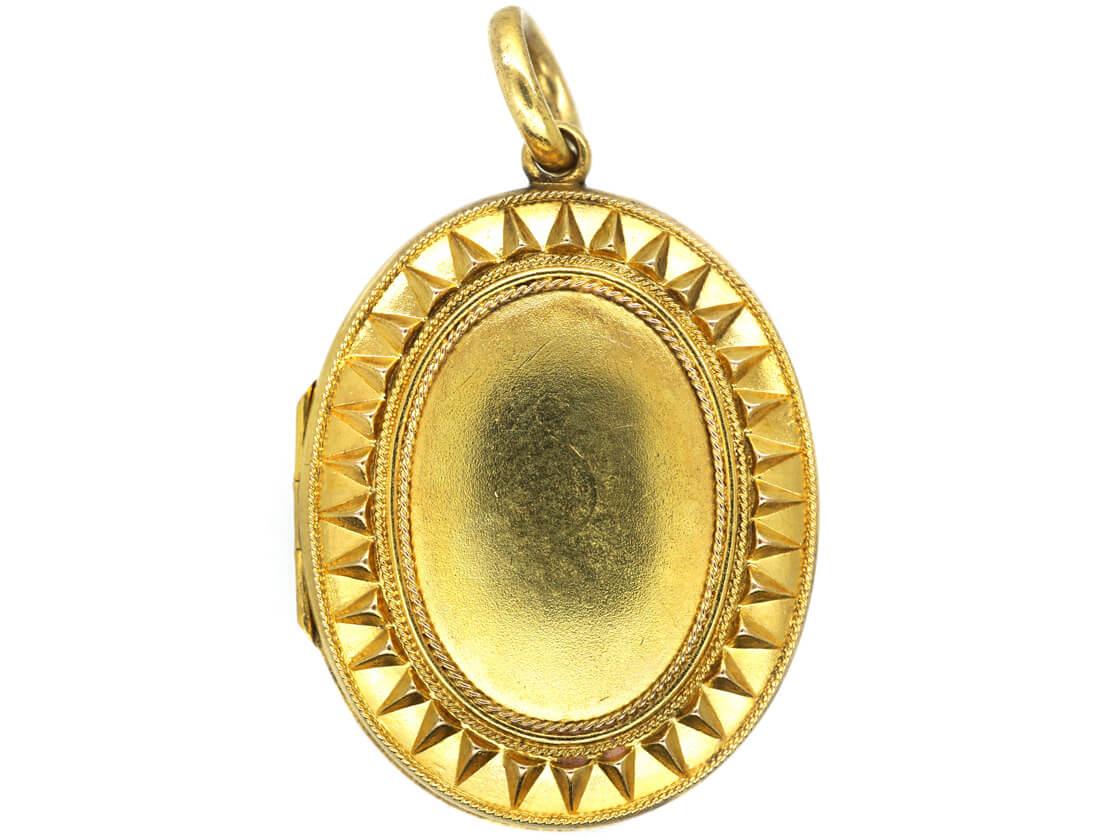 Victorian 15ct Gold Oval Locket