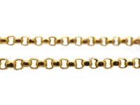 Victorian 9ct Gold Belcher Chain with Barrel Clasp