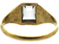 Art Deco 14ct Gold & Aquamarine Ring