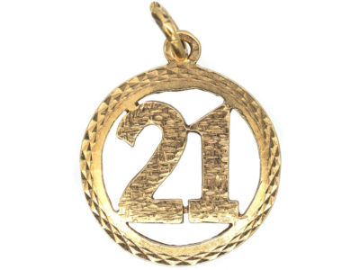 9ct Gold 21st Birthday Charm