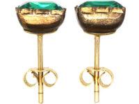 Georgian Green Paste Earrings