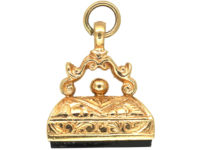 9ct Gold Seal with Black Onyx Base