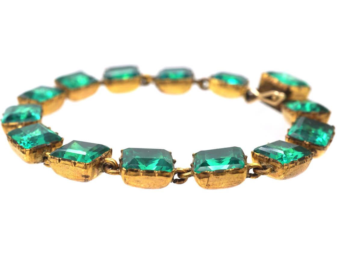 Georgian Green Paste Bracelet