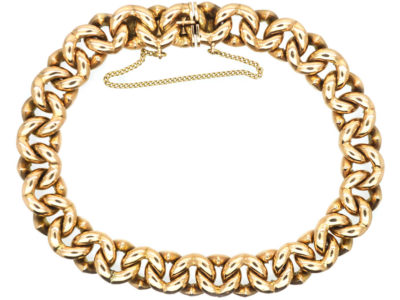 Edwardian 15ct Gold Interlinked Hearts Design Bracelet
