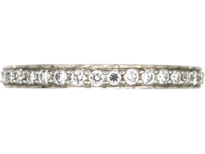 Narrow Platinum & Diamond Eternity Ring