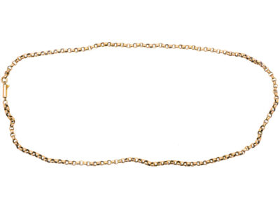 Victorian 9ct Rose Gold Belcher Chain