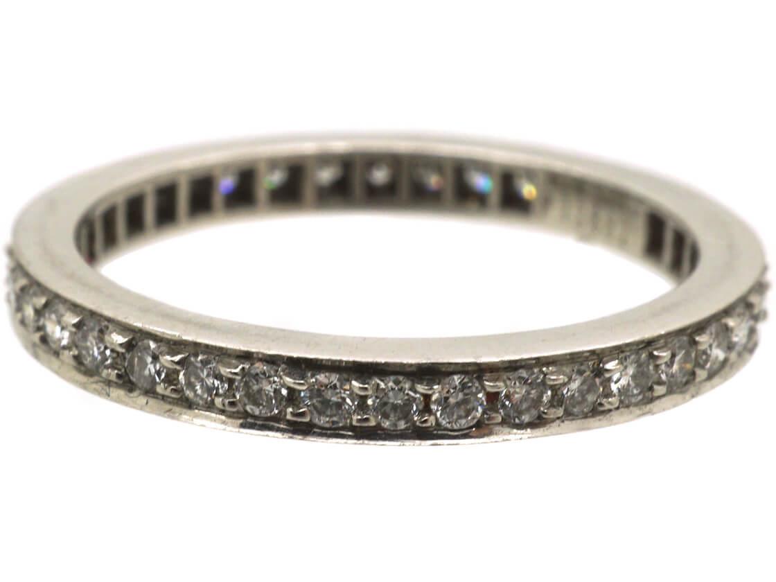 Narrow Platinum & Diamond Eternity Ring