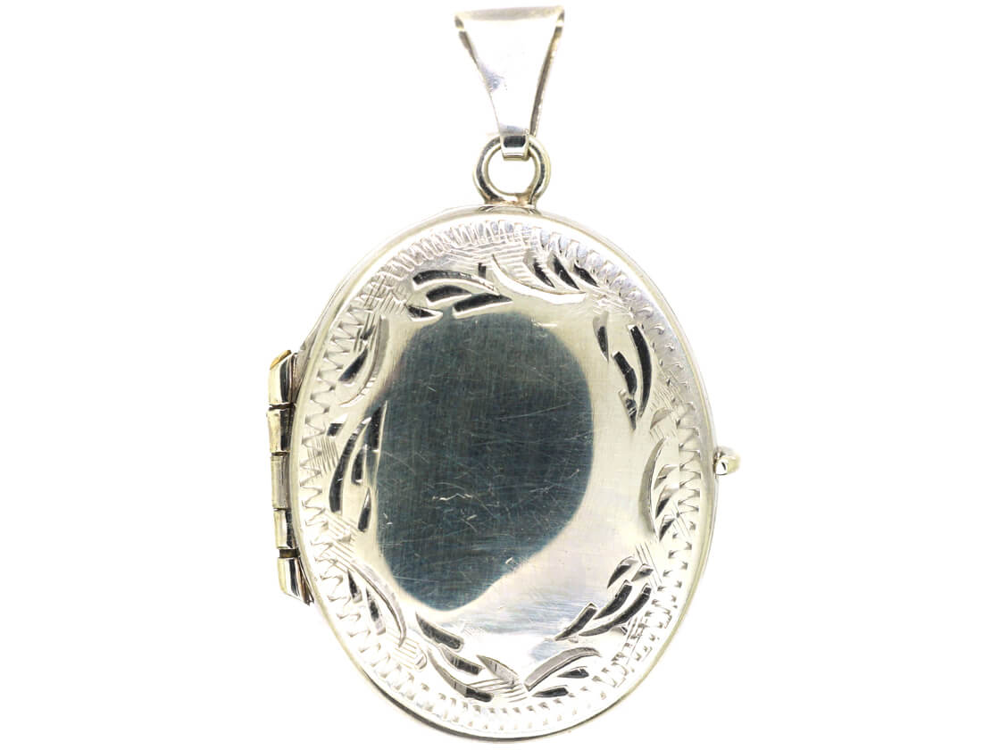 Siver Oval Locket