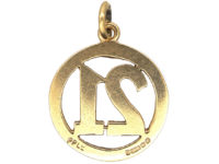 9ct Gold 21st Birthday Charm