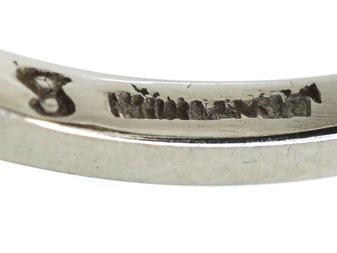 Art Deco Platinum, Black Opal & Diamond Ring