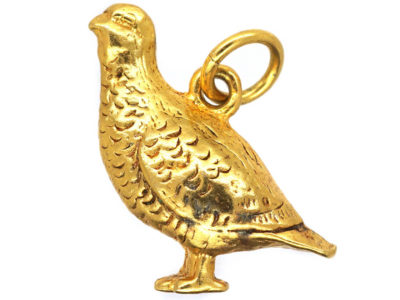 9ct Gold Charm of a Grouse