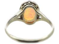 Art Deco Platinum & Opal Ring