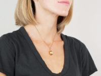 French 18ct Gold Vinaigrette Hazelnut Pendant