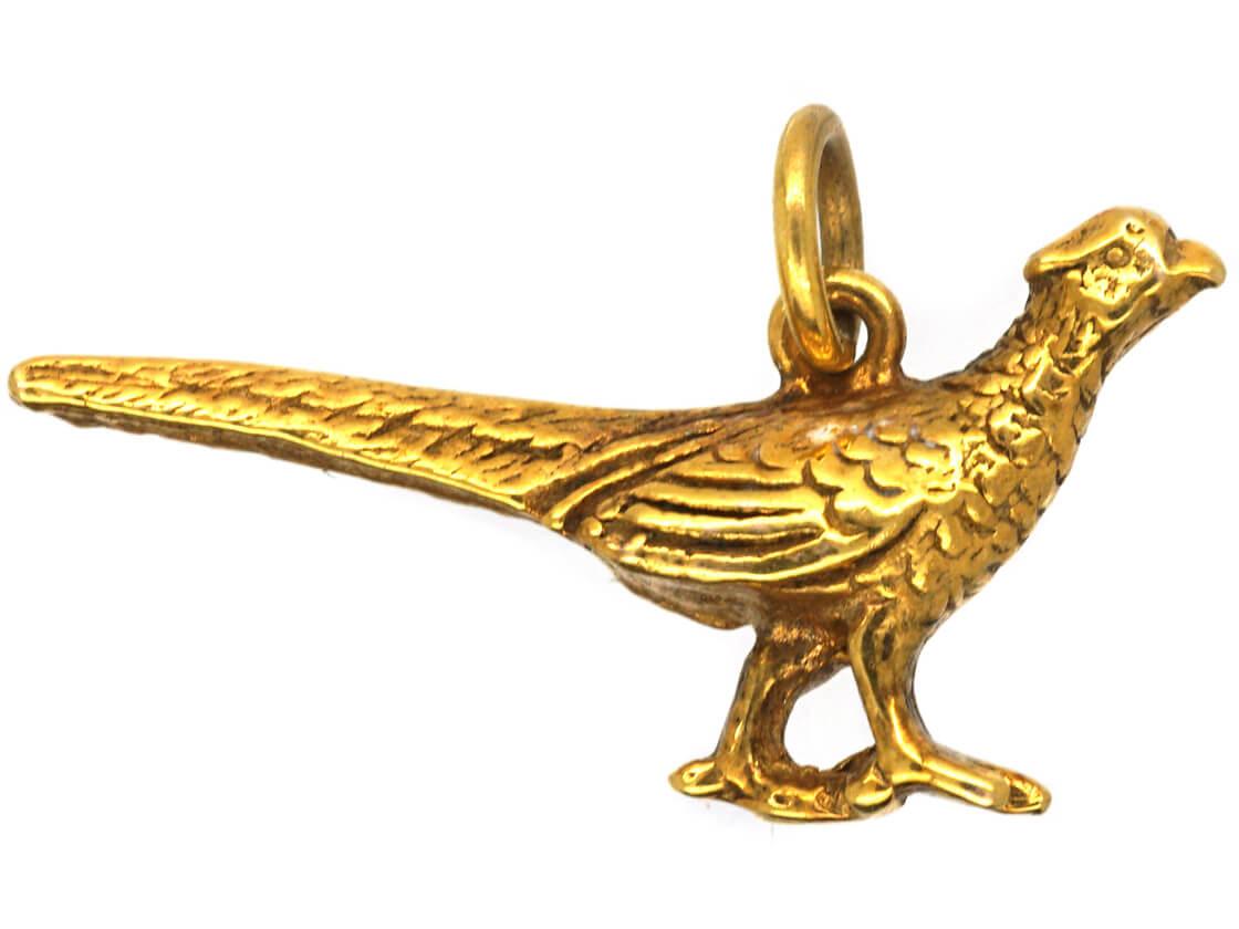 9ct Gold Pheasant Charm