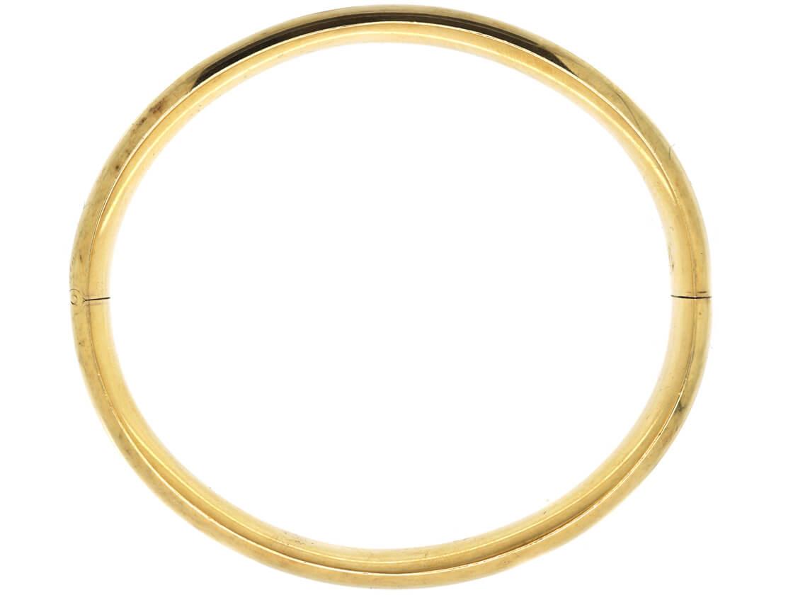 14ct Gold Plain Bangle