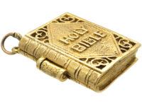 9ct Gold Bible Charm