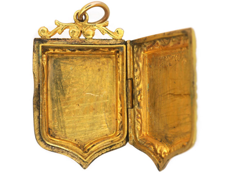 Edwardian 9ct Back & Front Locket with Swallow Detail
