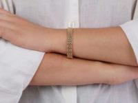 Edwardian 15ct Gold Woven Design Bracelet