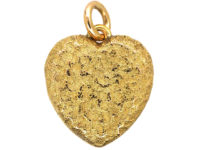 Edwardian 15ct Gold & Diamond Heart Shaped Locket