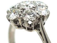 Platinum & Diamond Cluster Ring