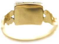 Regency 15ct Gold & Blue Enamel Opening Book Ring