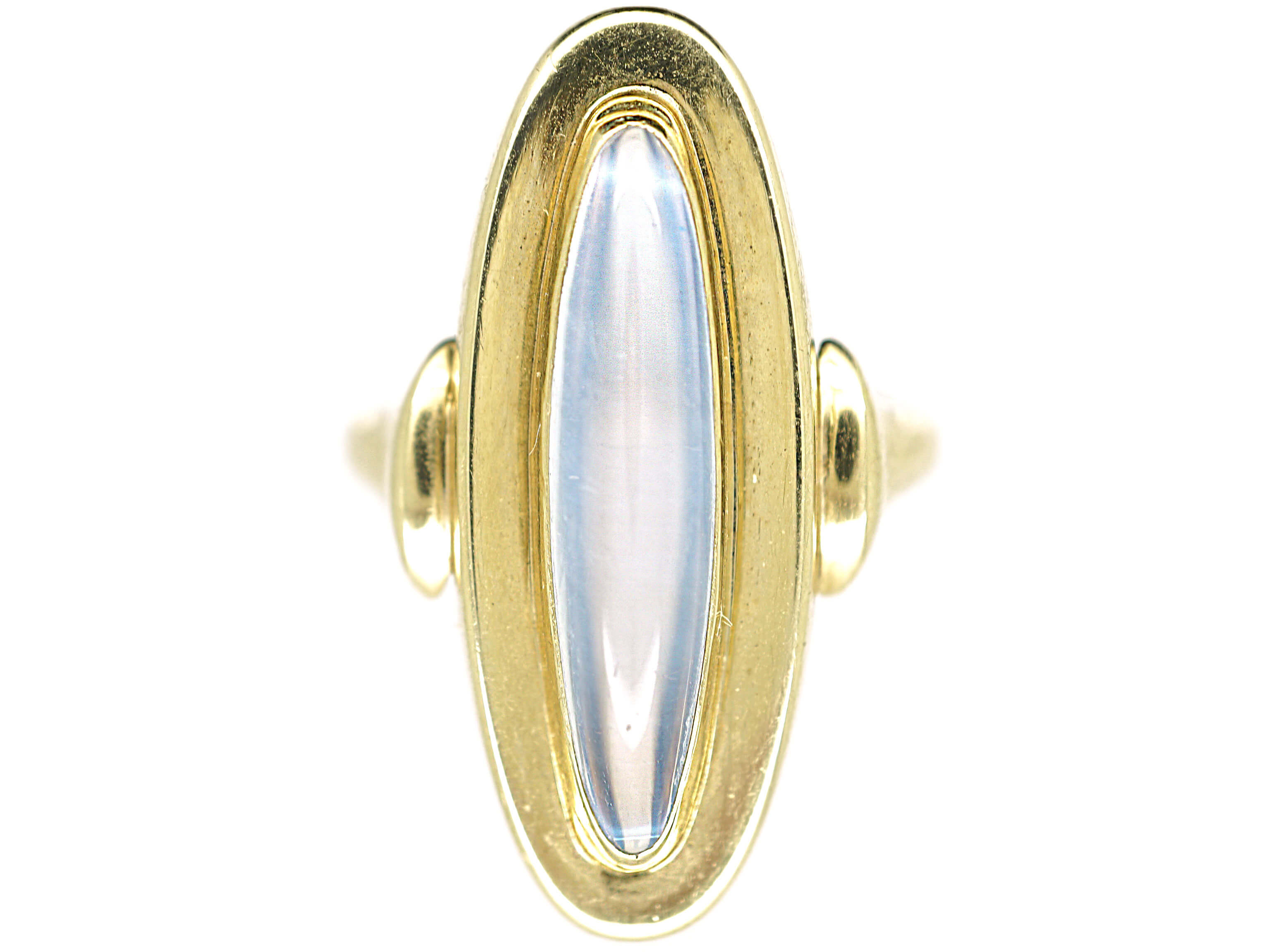 Art Deco 14ct Gold & Moonstone Oval Ring